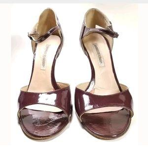 Manolo Blahnik Peep-Toe Heels